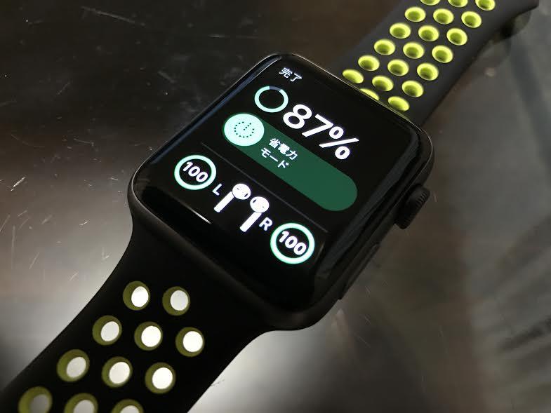 Apple Watchからもバッテリー残量を確認することが出来る