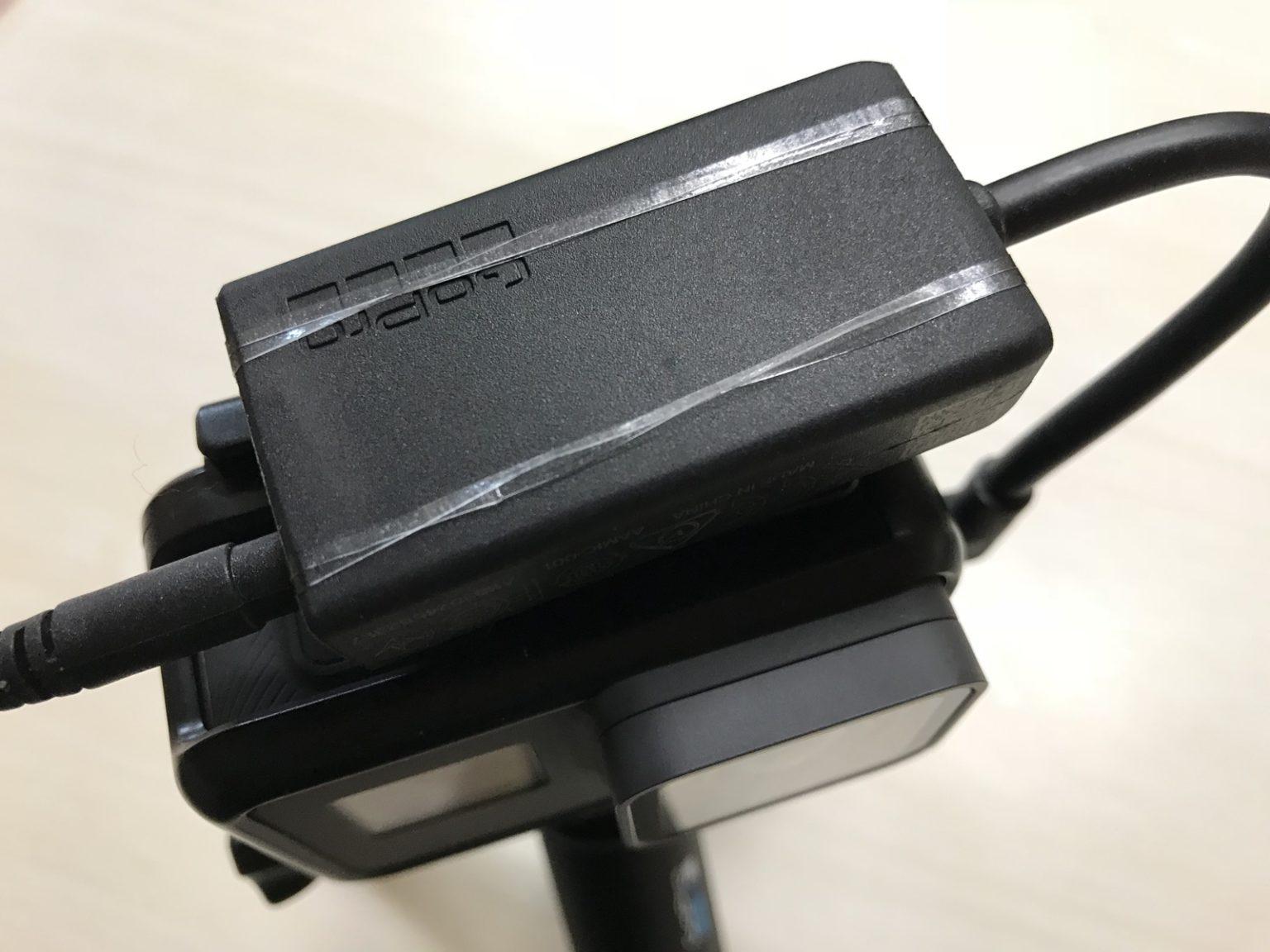 プロ3.5mmマイクアダプターをGoProのフレーム上部に装着