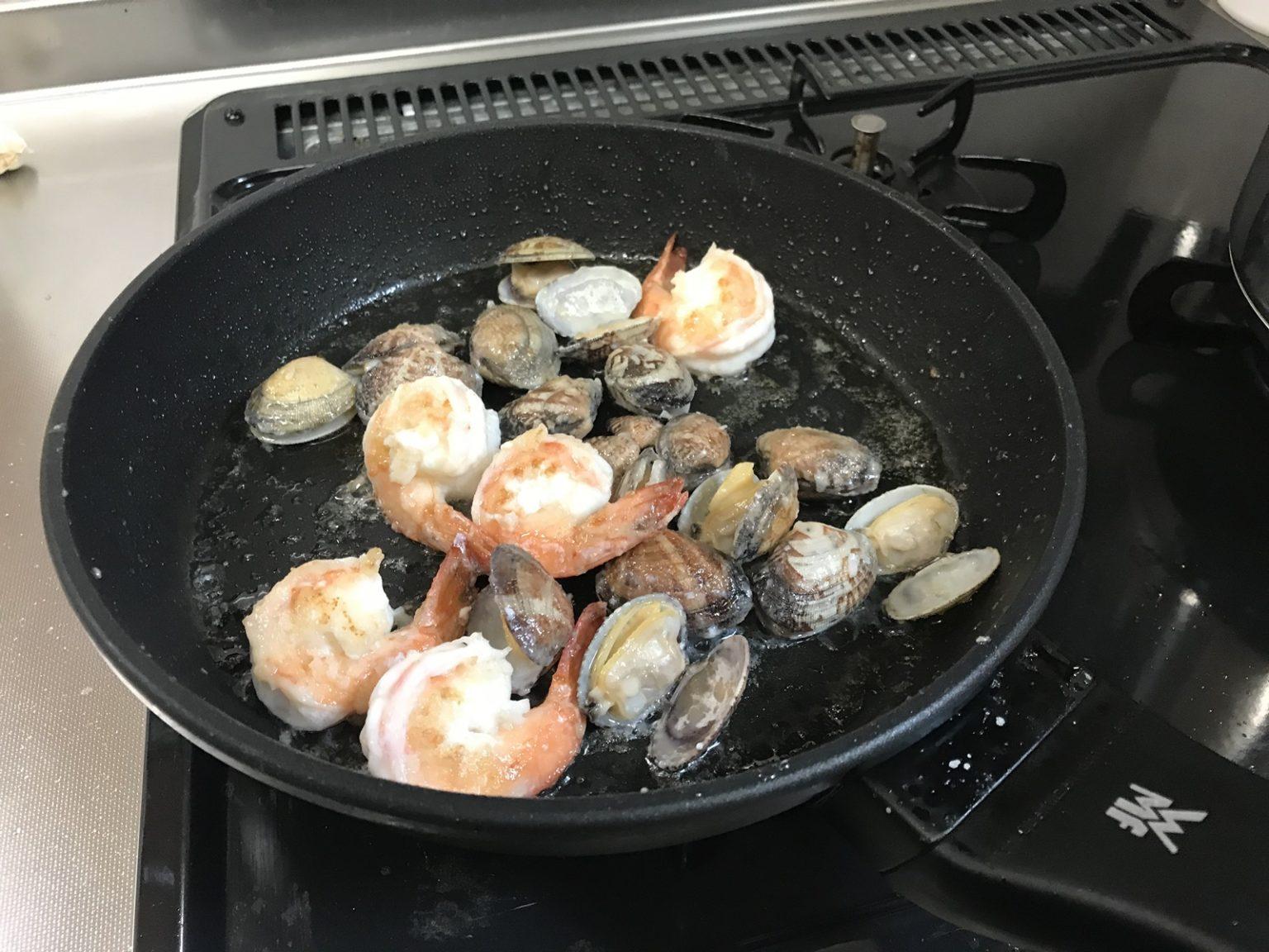 フライパンで調理-2
